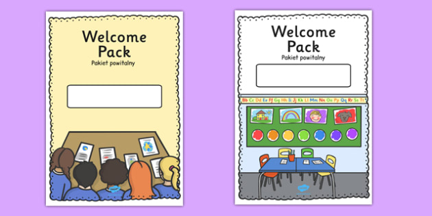Editable Welcome Pack Covers (Portrait) Polish Translation - polish, Welcome Pack, editable, cover, back to school, welcome pack, welcome, starting school, all about me, about me, starting nursery, starting KS1