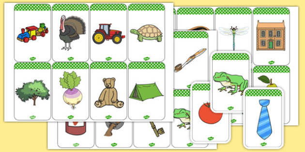 Initial Sound 'T' Picture Cards - initial sound, t, picture cards