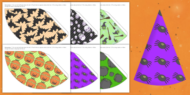 Halloween Party Hats - celebrations, festivals, parties, props