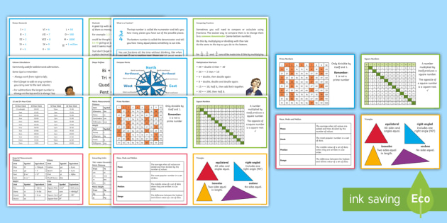Uks2 maths hint revision cards uks2 maths hint revision cards sats practice practise help number publicscrutiny Gallery