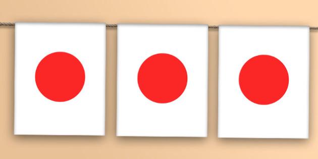Japan Flag Bunting - japan flag, japan, flag, bunting, display bunting, display