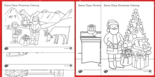 santa claus christmas coloring sheets christmas santa color coloring jolly