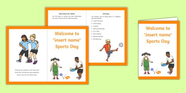 EYFS Multi Skills Sports Day Parents Leaflet Parents Leaflet