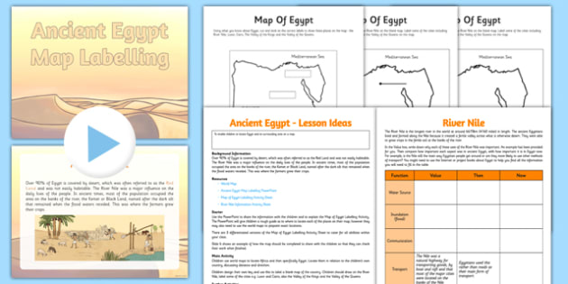 Ancient Egypt Map Lesson - CfE, Social Studies, Ancient Egypt, maps ...