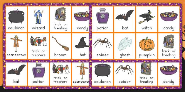 Halloween Lotto Game - matching, topic, filler, fun and games, October, KS1, KS2