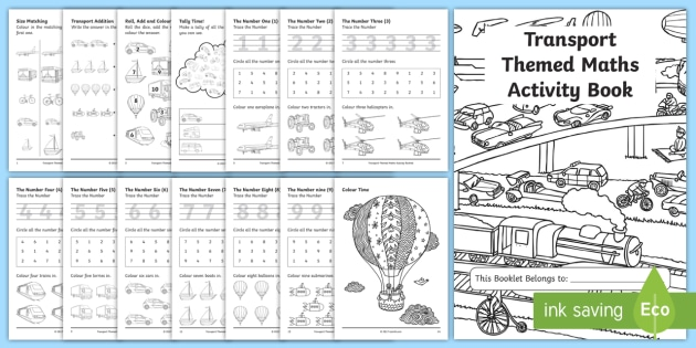 Themed KS1 Maths Activity Book - numeracy, activities