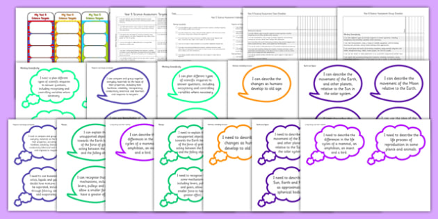 2014 Curriculum Year 5 Science Assessment Resource Pack - targets