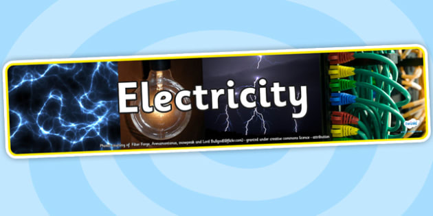 Electricity Photo Display Banner - electricity, photo display banner, display banner, display, banner, photo banner, header, display header, photo header