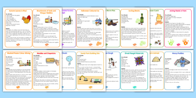 Messy Recipe Booklet - messy recipe, recipes, messy, booklet
