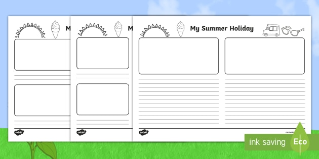 New My Summer Holiday Storyboard Template Blank Story