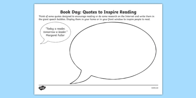 Book Day Quotes to Inspire Worksheet / Activity Sheets, worksheet