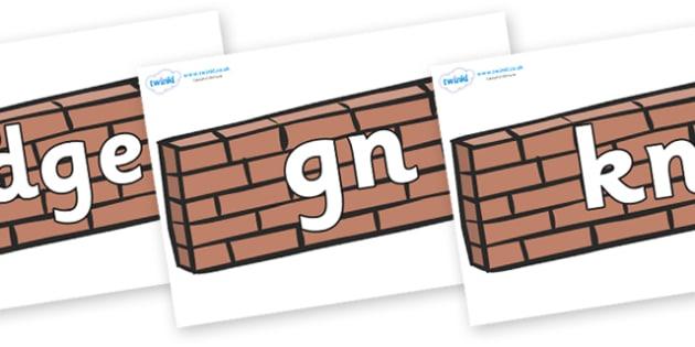 Silent Letters on Walls - Silent Letters, silent letter, letter blend, consonant, consonants, digraph, trigraph, A-Z letters, literacy, alphabet, letters, alternative sounds