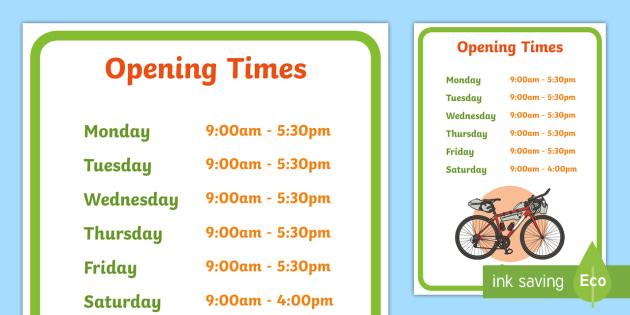 Bicycle Repair Shop Opening Times - Bike repair, bicycle