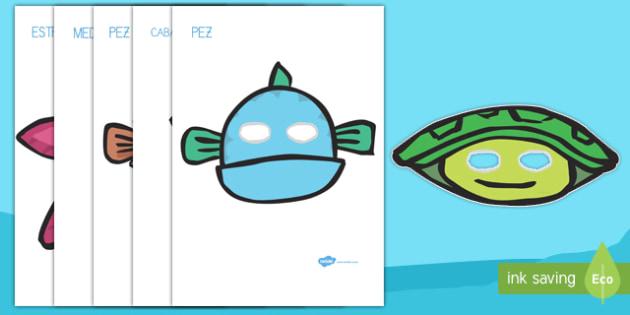 Animales marinos Máscaras de juego de rol