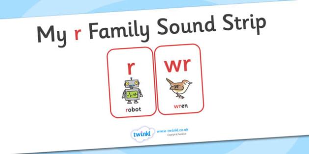 My r Family Sound Strip - family sound strip, sound strip, my family sound strip, my r sound strip, r sound strip, r family sound strip
