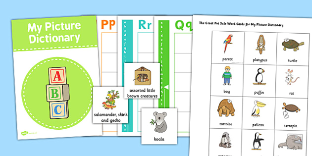 Picture Dictionary and Word Card Set to Support Teaching on The Great Pet Sale - pet