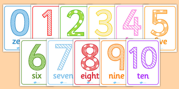 Numbers 0-10 Posters - numbers, numeracy, maths, 0-10, posters, display, display posters