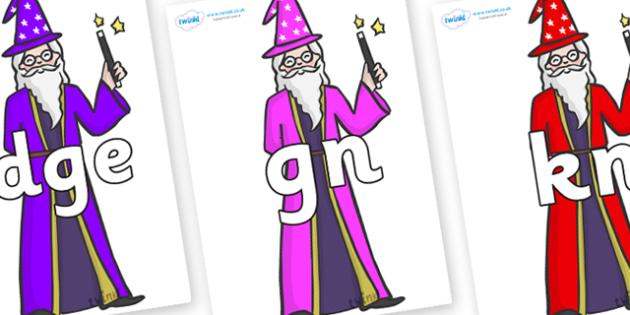 Silent Letters on Wizards - Silent Letters, silent letter, letter blend, consonant, consonants, digraph, trigraph, A-Z letters, literacy, alphabet, letters, alternative sounds