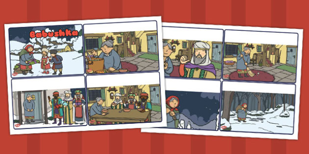 Babushka Story Sequencing Cards - babushka, story sequence, cards