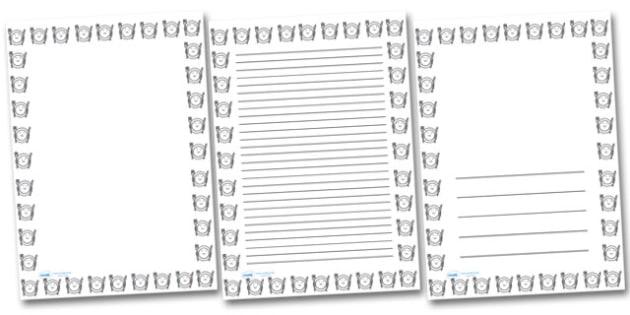 Smiley Plate Portrait Page Borders- Portrait Page Borders - Page border, border, writing template, writing aid, writing frame, a4 border, template, templates, landscape