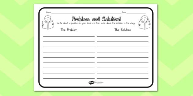 Problem Solution Comprehension Worksheet Australia Problem