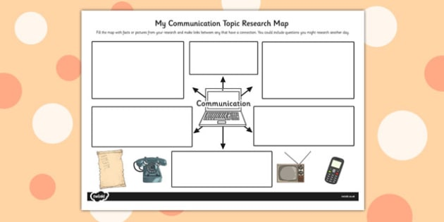 Communication Topic Research Map - communication, topic, research