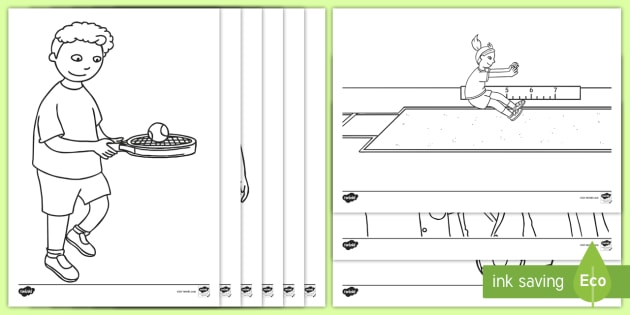 - Sports Day Coloring Pages (teacher Made)