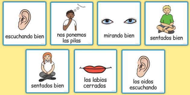 Good Listening Cards Spanish - spanish, good listening, cards, good, listening, communication