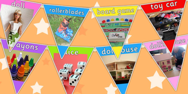 Toy Photo Bunting - toys, toys display, display bunting, display