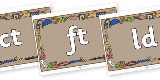 Final Letter Blends on Egyptian Bricks - Final Letters, final letter, letter blend, letter blends, consonant, consonants, digraph, trigraph, literacy, alphabet, letters, foundation stage literacy