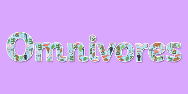 Omnivores Display Lettering - omnivore, display, lettering, science