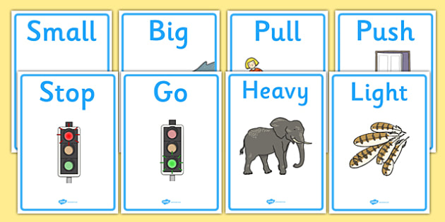Opposites Display Posters - Opposite, matching, opposites, display, poster, banner, sign, light, dark, little, big, measuring, shapes spaces and measures, ordering, large, larger, largest, small, smaller, smallest, sizes