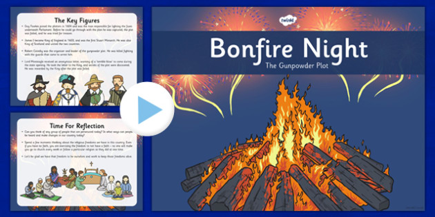 Bonfire Night Assembly Presentation - bonfire, night, guy, fawkes, assembly, presentation, whole, school, fireworks, november, 5th