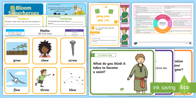 * NEW * CfE Free Taster Resources First Level Resource Pack
