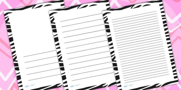 photograph relating to Printable Page Borders called No cost! - Zebra Print Site Borders - crafting templates
