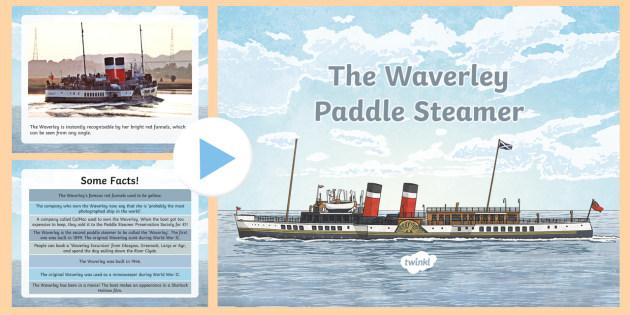 The Waverley Paddle Steamer PowerPoint-Scottish - Scottish Cities, Glasgow, Doon the Watter, River Clyde, shipbuilding,Scottish