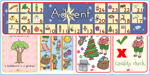 Christmas Scene Giant Display Pack - australia, christmas, pack
