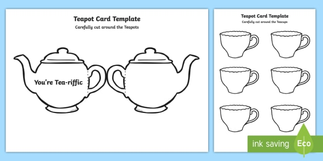Tea Pot Father\'s Day Card Template You\'re Tea-riffic - fathers