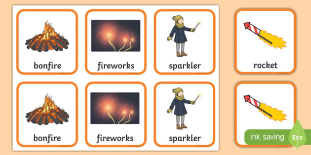 Fireworks Snap Cards Activity