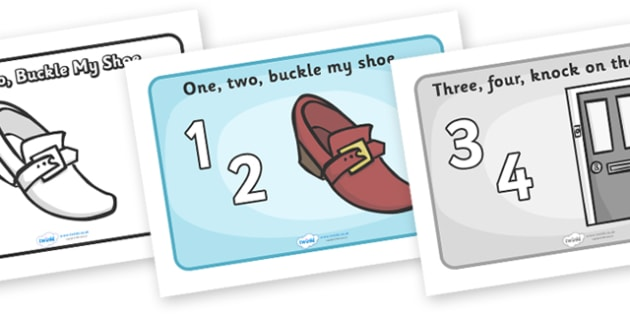 picture relating to One Two Buckle My Shoe Printable named 1, 2, Buckle My Shoe - Training Components - Twinkl