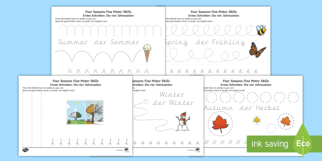 Winter Read and Colour Worksheet / Activity Sheet English/German