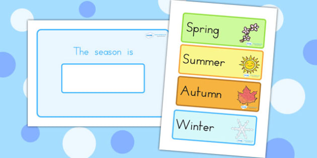 Seasons Calendar - seasons, weather, display, classroom display