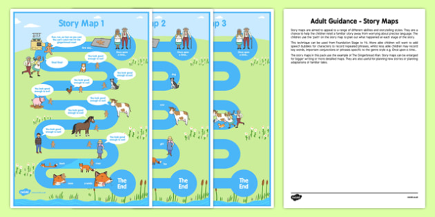Story Maps Adult Guidance - reading, writing, stories, fiction, planning