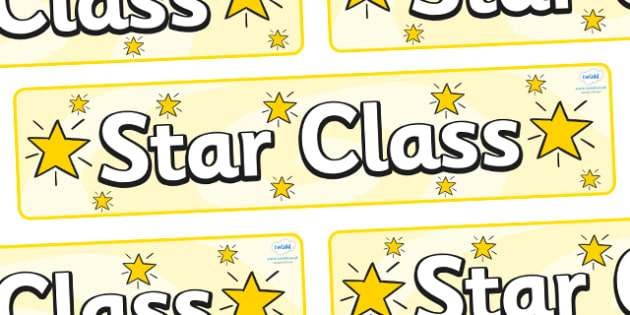 FREE! - Star Themed Classroom Display Banner - Themed banner