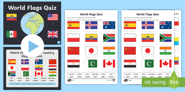 World flags quiz pack geography flags world earth world flags quiz pack geography flags world earth countries continents gumiabroncs Choice Image