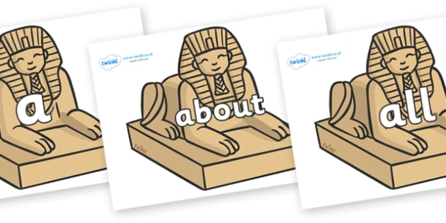 100 High Frequency Words on Sphinx - High frequency words, hfw, DfES Letters and Sounds, Letters and Sounds, display words