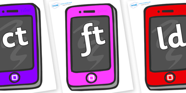 Final Letter Blends on Mobile - Final Letters, final letter, letter blend, letter blends, consonant, consonants, digraph, trigraph, literacy, alphabet, letters, foundation stage literacy