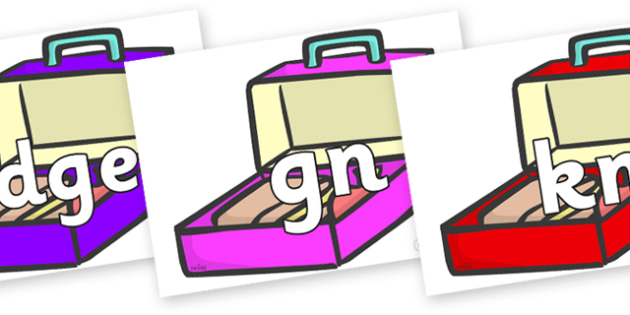 Silent Letters on Lunch Boxes - Silent Letters, silent letter, letter blend, consonant, consonants, digraph, trigraph, A-Z letters, literacy, alphabet, letters, alternative sounds