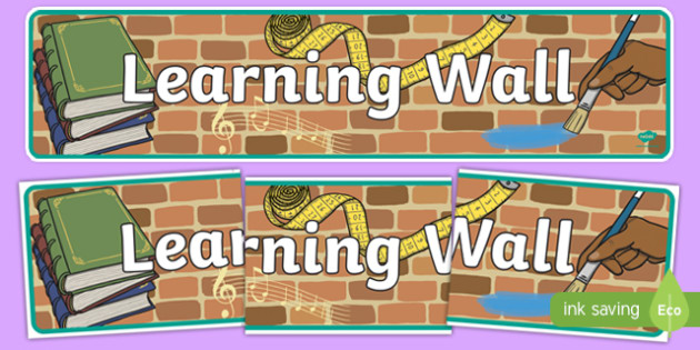 Learning Wall Display Banner EYFS - learning, eyfs, banner