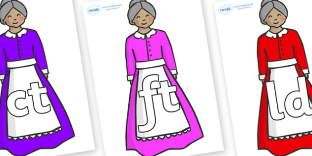 Final Letter Blends on Old Mother Hubbard - Final Letters, final letter, letter blend, letter blends, consonant, consonants, digraph, trigraph, literacy, alphabet, letters, foundation stage literacy